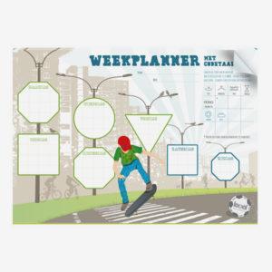weekplanner skateboard voor jongens