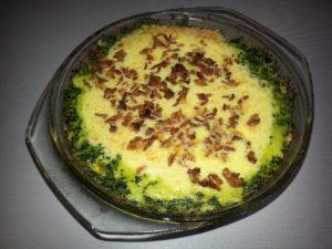 Vegetarische spinazie ovenschotel
