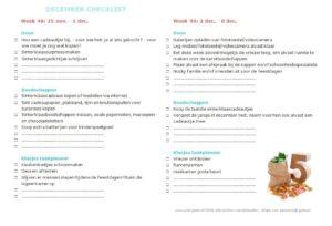 december checklist – gratis printversie