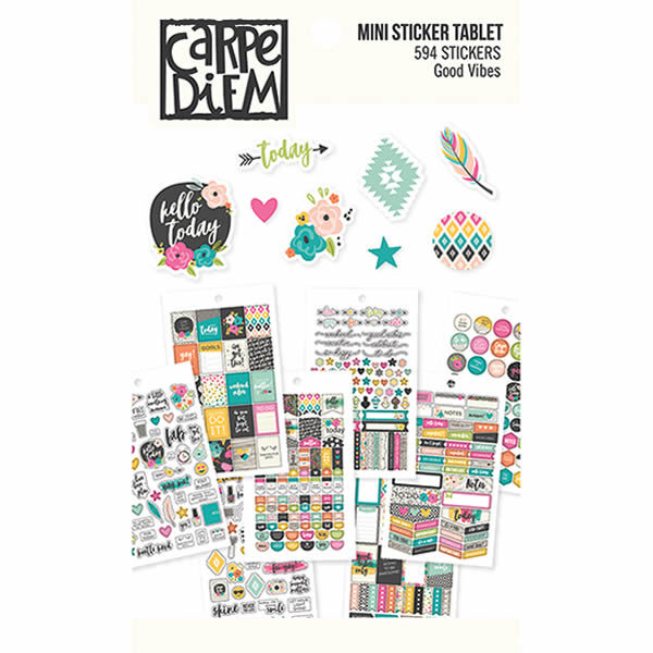Good vibes mini stickers tablet