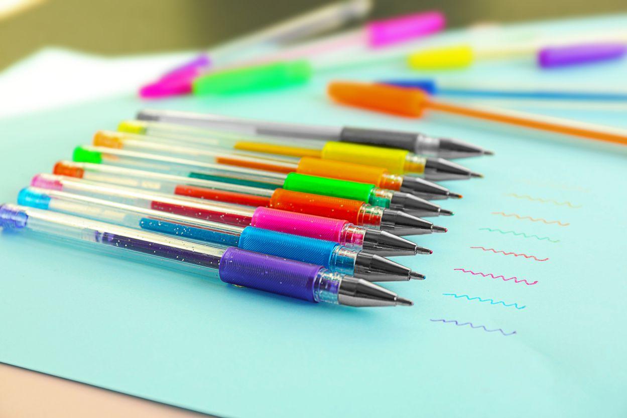 Verschillende kleuren pennen