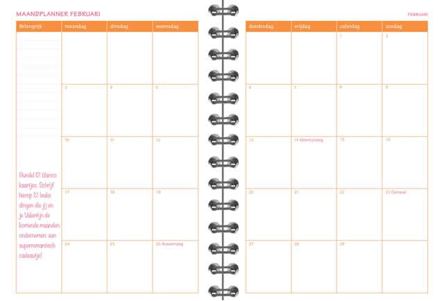 de organizing agenda 2020 maandplanner