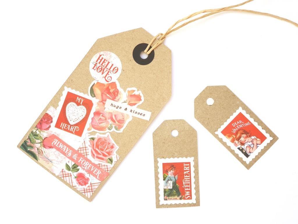 Valentine stickers labels