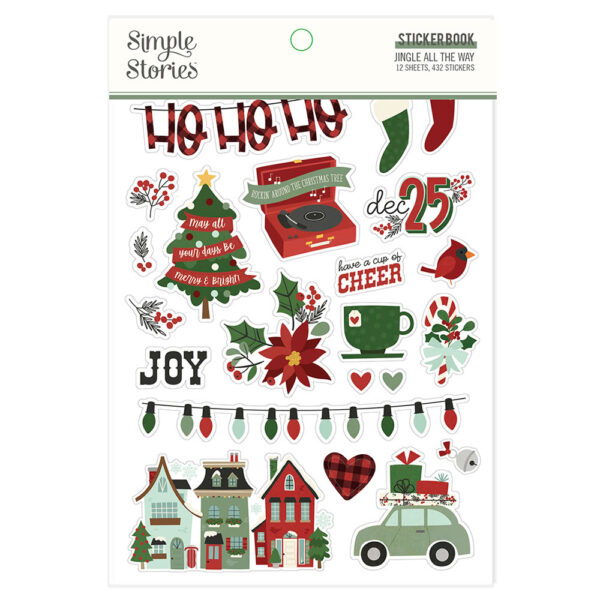 Jingle All the Way Sticker Book (432 stickers) - Simple Stories