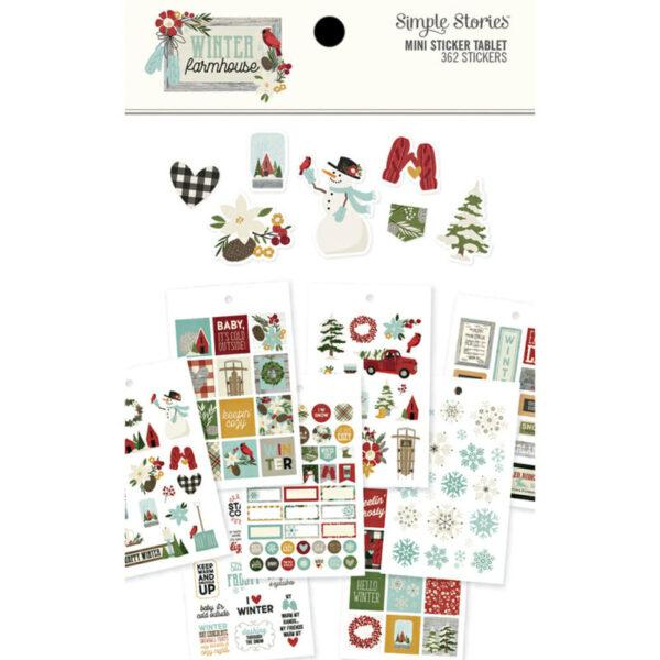 Winter Farmhouse Mini Sticker Tablet (362 stickers) – Simple Stories