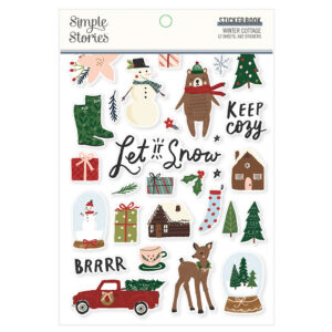 Winter Cottage Sticker Book (682 stickers) – Simple Stories