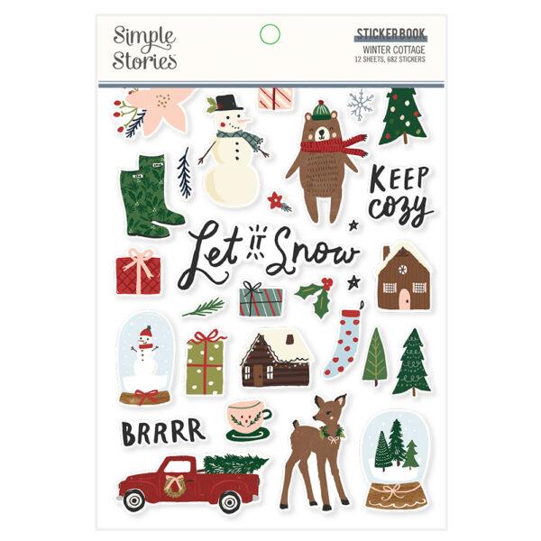 Winter Cottage Sticker Book (682 stickers) – Simple Stories